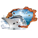 3D Wall Stickers Wall Decals Style Creative Ship PVC Wall Stickers