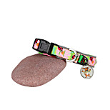 Dog Collar Adjustable/Retractable / Cartoon Design Red / Green / Blue Textile