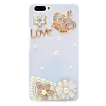 Rhinestone Hard Back Cover for Huawei Honor 6Plus(white crown)