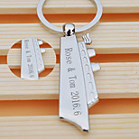 Personalized Gift Keychain Stainless Steel Modern / Creative