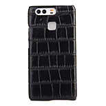 AWEI  Crocodile Carbon Fiber Hull PU Case for HUAWEI P9 Plus
