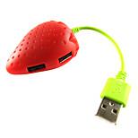 USB 2.0 de 4 puertos / interfaz de concentrador USB preciosa fruta de la fresa 7 * 2 * 2