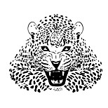 Wall Stickers Wall Decals Style Ferocious Leopard PVC Wall Stickers