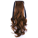 Flaxen Length 50CM Factory Direct Sale Bind Type Curl Horsetail Hair Ponytail(Color 30B)