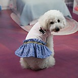 Classic Pure Color Jeans Pet Dress