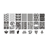 BlueZOO Lace Blue Rectangle Plate Nail Art Stamping (BC-04)