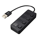 USB 2.0 4 Ports/Interface USB Hub with Separate Switch 8.5*2*1.5