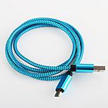 USB cable de aluminio cable del cargador de carga rápida 2.0 para Samsung amartphone androide aable aeneral (0,25 m)