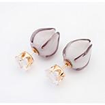 Alloy / Zircon / Acrylic Earring Stud Earrings Wedding / Party / Daily 1 pair
