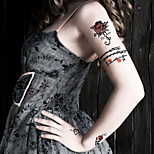 Fashion Temporary Tattoos Roses Sexy Body Art Waterproof Tattoo Stickers 5PCS  (Size: 3.74'' by 6.69'')