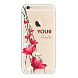 Kakashi Little Fresh Series TPU Painting Soft Case for iPhone 6s / 6 /6s Plus / 6 Plus(Fragrant Lily)