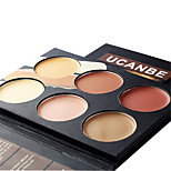 6 Concealer/Contour Dry Balm Coverage / Concealer Face Multi-color Ucanbe
