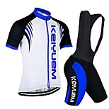 KEIYUEM®Others Short Sleeve Spring / Summer / Mountain Bike Cycling Clothing Bib Sets for Men/Women/ Breathable#34