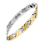 Unisex Jewelry Health Care Silver Gold Titanium Steel Magnetic Bracelet