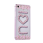 Metal Frame Protective Shell Hard  Painting for HUAWEI P8  (Pink box + IOU)