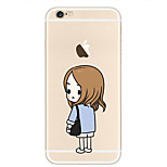 Doctor Jiang Pattern Transparent TPU painting soft case for iPhone6s/6