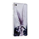 Metal Frame Protective Shell Hard  Painting for HUAWEI P8 (Silver Box + Wings Girl)