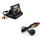 Car Rear View Backup 8LED Night Vision Camera + 4.3