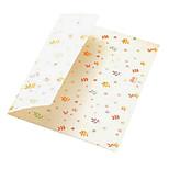 3 cartoon color envelope card storage bag (pattern random)