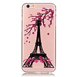 tpu Eiffelturm Muster transparent weiche Tasche für iPhone 6s 6 Plus