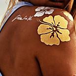 Tattoo Stickers Airbrush Tattoo Stencils Women / Adult Gold Paper 1 15*12*0.3