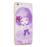 Kakashi Flower Princess Series TPU Painting Soft Case for iPhone 6s / 6 /6s Plus / 6 Plus(Orchidales)