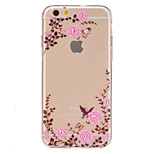 TPU Garden Pattern Transparent Soft Back Case for iPhone 6s 6 Plus