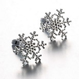 Men's Fashion Snowflake Style Silver Alloy French Shirt Cufflinks (1-Pair)