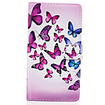 Butterfly Pattern PU Leather Material Phone Case for Huawei Ascend P9 Lite/ P9