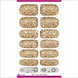 K5627 Water Transfer Nail Art Stickers Metallic Petals Gem Pearl Series Decor Nail Decal Manicure Styling Tools
