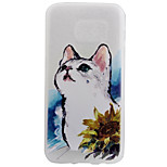 TPU Material Matte Border Kitty Super Relief Effect Phone Shell Protection for Samsung Galaxy S7/S7 edge
