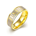 Fashion jewelry 925 silver titanium steel ring Band rings for women wedding  letter rings TGR006