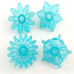 4pcs Sunflower Type Cookie Cake Molds  For The Kitchen Baking Molds