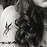 Fashion Temporary Tattoos Butterfly Sexy Body Art Waterproof Tattoo Stickers 5PCS  (Size: 3.74'' by 6.69'')