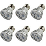 YouOKLight® 6PCS E27 250lm 3000K 3-LED Warm White Light Spotlight - Silver  (AC 85-265V)