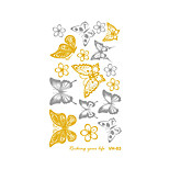 3D Butterfly Tattoo Decals Body Art Decal Flying Butterfly Waterproof Paper Temporary Tattoo