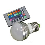 E27 85V-265V 100-180Lm 3W RGB Remote Control LED Colorful Bulbs