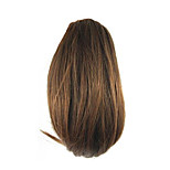 Length Brown Wig 26CM Synthetic Straight High Temperature Wire Gripper Small Ponytail Color 2009