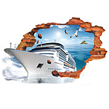 3D Wall Stickers Wall Decals, Luxury Cruise Ship Seagull PVC Wall Sticker