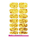 5pcs Fashion 3d Nail Art Stickers Gold Bright Bling Water Transfer Nail Sticker  Decoration Metal Foil Decals