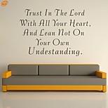 AYA™ DIY Wall Stickers Wall Decals,  Trust In The Lord Bible Verse PVC Wall Stickers