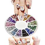 1pcs 12 Colors New Round Bowl Nail Art Small Colorful Diamond Jewelry Design Nail Art DIY Decoration NC269Yi