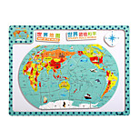 Children's Cartoon Puzzle Magnetic Wooden Tuba Puzzle Toys-The Map of China