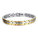 Unisex Jewelry Health Care Silver Stainless Steel Magnetic Bracelet