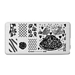 BlueZOO Rectangle Printing Nail Art Stamping (C-032)