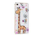 Metal Frame Protective Shell Hard  Painting for HUAWEI P8 (Golden Box + Giraffe)