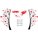 Wedding Romance Heart Love Tree Wall Stickers PVC Bedroom Cupid Wall Decals Environmental Wall Art