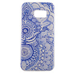 Back Pattern Flower TPU Soft Blue Case Cover For Samsung Galaxy S7 edge plus / S7 edge / S7
