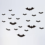 Wall Stickers Wall Decals Style Halloween Bats PVC Wall Stickers