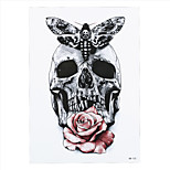 9PCS New Gray Butterfly Skull Rose Flower Arm Body Art Tatoo Sticker Waterproof Temporary Body Art Tattoo Paint Sticker